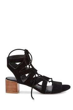 Issa Sandal - These sandal-bootie crossovers are exactly what you need. The lace-up and cutouts are trendy and the low heel is comfortable so you can wear them all day and night.