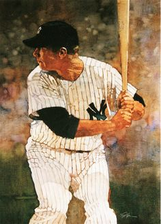 Mickey Mantle, New York Yankees by Bart Forbes