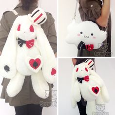 Lolita Gothic Bunny Plush Bag SP165875