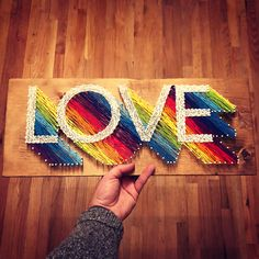 woodandhope String Art Gallery Ideas] The post LOVE custom string art! woodandhope appeared first on Decors. String Wall Art, Nail String Art, String Crafts, Yarn Crafts, Resin Crafts, Wood Crafts, String Art Templates, String Art Tutorials, String Art Patterns