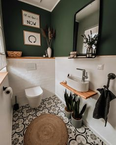 Toilet And Bathroom Design, Small Toilet Room, Bathroom Interior Design, Guest Toilet, Bathroom Designs, Bathroom Ideas, Cozy Bathroom, Bathroom Vintage, Downstairs Toilet