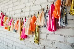 neon, metallic, and neutral tassel garlands // photo by AmandaWatsonPhoto.com // design by EmersonEvents.com