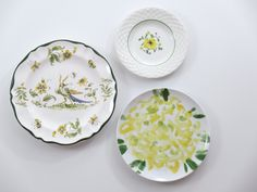 Decorative Plates Kitchen Wall Decor Shabby Chic Farmhouse Rustic French  Country Vintage Plate Set Mismatched Antique