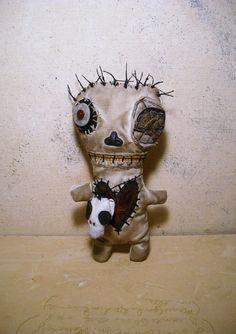 Handmade Voodoo Doll ( Voodoo Perle). $65,00, via Etsy.