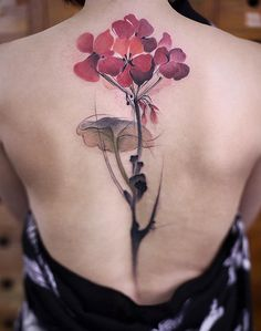 Flower spine tattoo - 40+ Spine Tattoo Ideas for Women
