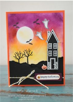 Stampin' Up! Holiday Home Halloween Card-Julie Warnick