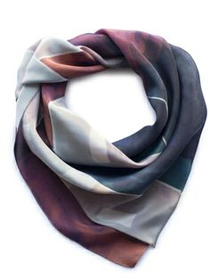 Ink + Merlot Kaleidoscope Scarf by Inks + Thread