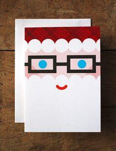 Eine schöne Inspiration für Karten an Weihnachten. White scallops + eyeglass die. Cute little tag