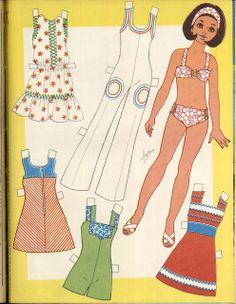(⑅ ॣ•͈ᴗ•͈ ॣ)♡                                                            ✄Mujeres Barbie Paper Dolls, Vintage Paper Dolls, Paper Toys, Paper Crafts, Paper Dolls Printable, Journal Paper, Doll Maker, Retro Toys, Christmas Paper