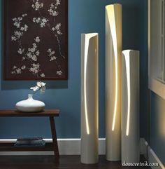 Светильники из пластиковых труб
