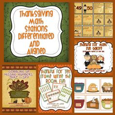 A Differentiated Kindergarten: Planning Differentiated Math Stations For Thanksgiving