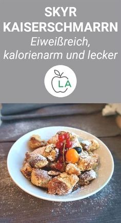 Skyr Kaiserschmarrn - Fluffy, healthy and low in calories # low carbohydrate recipes . - Skyr Kaiserschmarrn – Fluffy, healthy and low in calories # Low carb recipes This Skyr Kaiserschm - Whole Foods, Whole Food Recipes, Diet Recipes, Snack Recipes, Healthy Recipes, Healthy Snacks, Healthy Eating, Cocina Natural, Health Desserts
