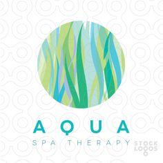 Exclusive Customizable Logo For Sale: Aqua spa therapy | StockLogos.com