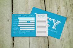 Post card size (4×6) connection card that includes fully editable .ai files and ready to print .pdf files.