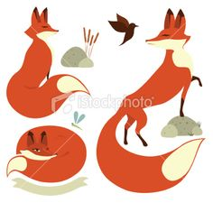 Red Foxes Free Vector Graphics, Free Vector Art, Free Vector Images, Fox Stock, Fox Illustration, Red Fox, Art Projects, Foxes, Royalty