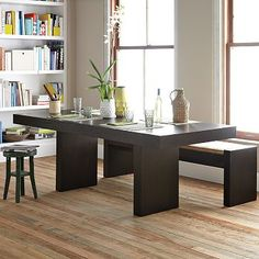 Terra Dining Table made from wood certified sustainably harvested with water-based stain and recycled hardware