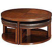 Coffe table with stools! My kids will love this.