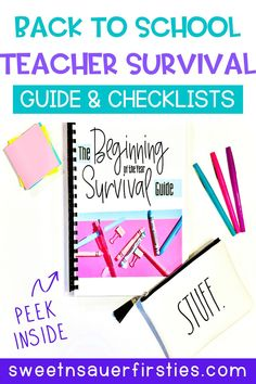 Do you often feel overwhelmed at the beginning of the year thinking about all the things that need to be completed? This teacher survival guide is perfect to help you hone in on what's truly important - classroom management and setting up a classroom. You will find a classroom set up checklist, classroom organization checklist, seating arrangement ideas, and how to set up your centers and guided reading groups. You will also find classroom decor ideas and parent communication tips and ideas.