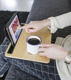 Support pour tablette en bois