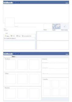 Vriendenboekje style..maar dan facebook layout!