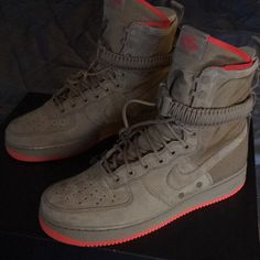 new products 7ca6a 6ce96 Nike Shoes   Nike Air Force 1 Sf High Top   Color  Tan   Size