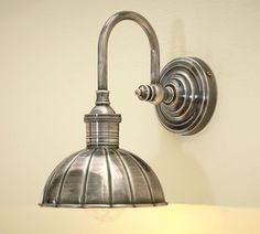 Vintage Single Sconce, Single, Vintage Pewter finish- love this 'industrial' look! Would look great over certain photos and objects.