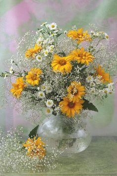 Wonderful Flowers, Good Morning Flowers, Art Floral, Flower Vases, Flower Art, Watercolor Flowers Tutorial, Corporate Flowers, Foto Art, Still Life Art