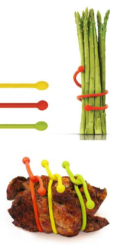 Silicone Silly Twist Set @scrapwedo, these would work great for rotisserie chicken instead of string...