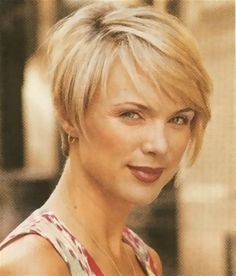 I like this cut. Shorter in the back and longer in the front. The opposite of a mullet!