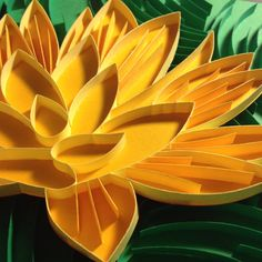 3D paper quilling Orange Water Lily on Etsy, $50.00