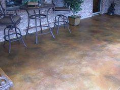Shades of Color Acid Washed Concrete & Acid Stain Concrete Floors