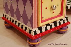 The Candy Shoppe Hand Painted Vanity shown on Flikr from Mad Tea Party Furniture