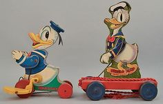 Vintage Fisher Price Donald Duck pull toys