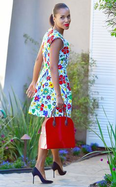 Spring Picnic from Celebrity Street Style  From head to toe, Kerry Washington's look is polished perfection.
