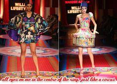 Fashion show themed around the Circus