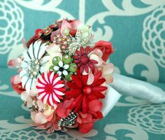 Pink Wedding  Bouquet   Pink Bridal Brooch Bouquet   by BoHoBridal
