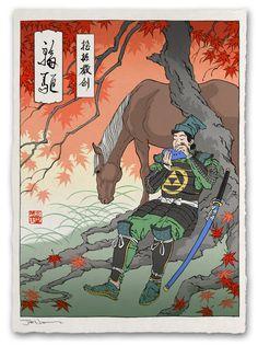Legend of Zelda japenese style poster by Jed Henry