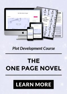Online creative writing course - The One Page Novel is an 8 stage plot formula that helps you create strong character development and story structure by working top-down. All on 1 A4 page.