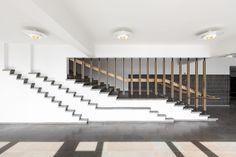 Renovation Of The Aalto University Undergraduate Centre / Arkkitehdit NRT Oy, © Tuomas Uusheimo Alvar Aalto, Stair Handrail, Best Architects, Space Architecture, University, Stairs, Interior Design, Design Interiors, Staircases