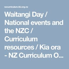 Waitangi Day / National events and the NZC / Curriculum resources / Kia ora - NZ Curriculum Online Waitangi Day, Social Science, Oras, Curriculum, Events, Teaching, Maori, Resume, Learning
