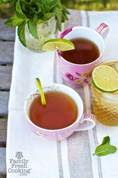 Sweet Honey Mint Green Tea recipe on Family Fresh Cooking blog IMG 7952