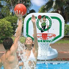 Poolmaster Boston Celtics Basketball Game, Silver