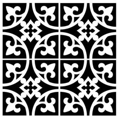 Reusable Laser-Cut Floor or Wall Tile Stencil – R. Reusable Laser-Cut Floor or Wall Tile Stencil Reusable Laser-Cut Small to Medium Floor or Wall Tile Stencil Stencils, Stencil Art, Stencil Printing, Hand Painted Wallpaper, Painting Wallpaper, Stencil Patterns, Stencil Designs, Motif Art Deco, Wood Burning Tool