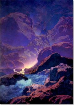 Maxfield Parrish - Moonlight   Painting