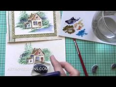 Art Impressions Blog: NEW VIDEO! Watercolor Wednesday - Cabin by a Stream