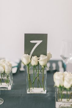 Modern wedding reception table number | Elizabeth Fogarty Photography | see more on: http://burnettsboards.com/2015/06/modern-art-gallery-styled-shoot/