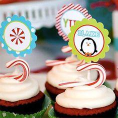 Fiesta de cumpleaños de pingüinos navideños -