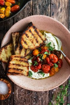 The very best, simplest, most satisfying summer appetizer – whipped feta with roasted tomatoes. Full of garlic and fresh garden herbs. This is summer in a bowl. Cooking Recipes, Healthy Recipes, Grilled Recipes, Ramen Recipes, Best Vegetarian Recipes, Amish Recipes, Dutch Recipes, Shrimp Recipes, Pasta Recipes