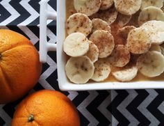 Sinaasappel-banaan ontbijtje. Te vinden op It's Pure Food