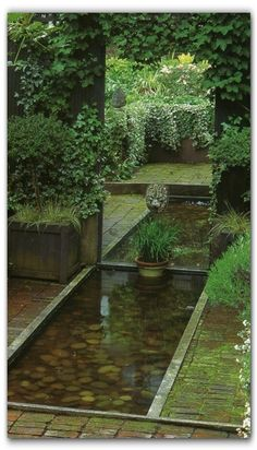 *Mirrored water feature